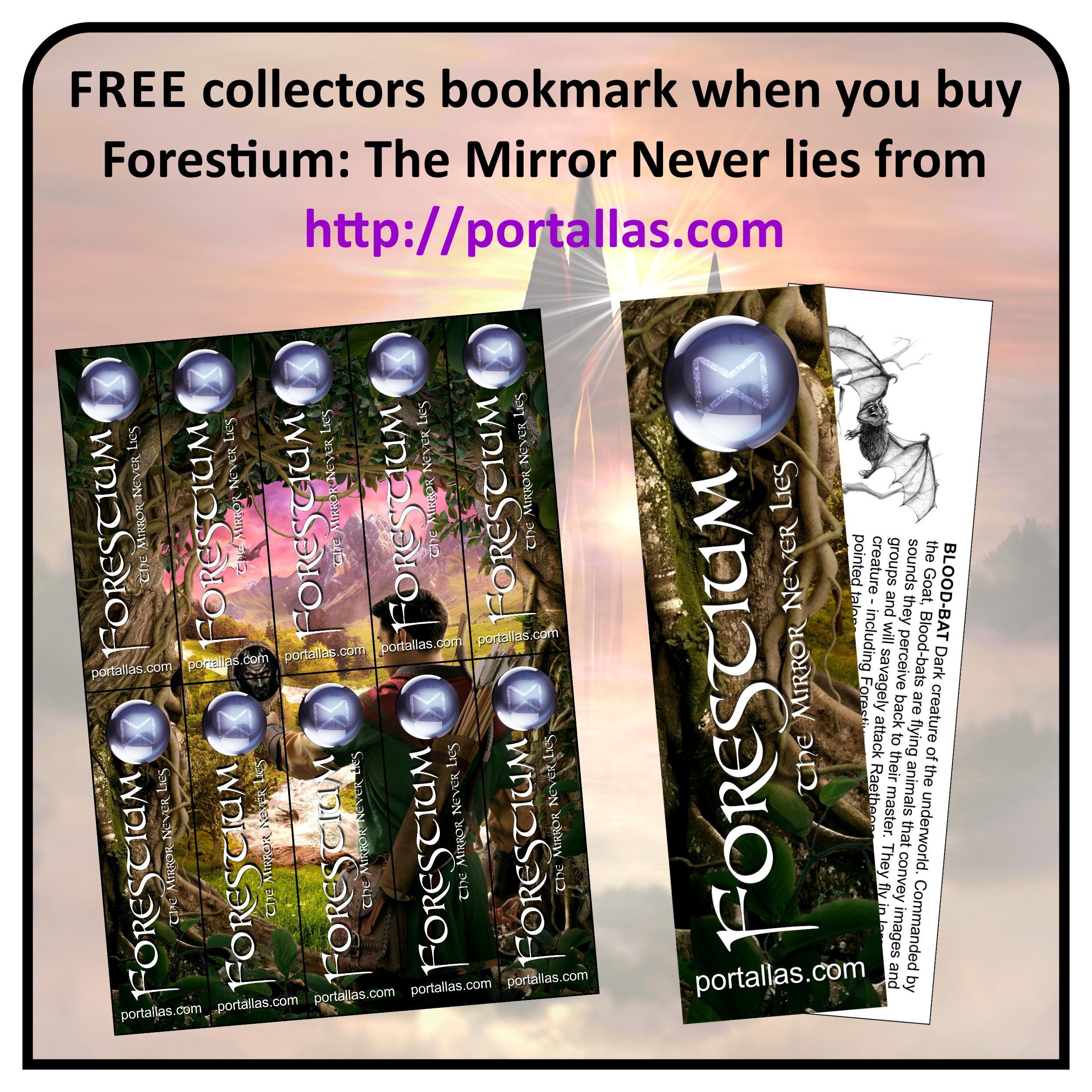 Ad graphic - Portallas themed bookmarks