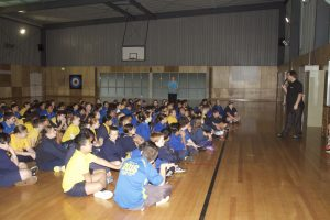 Talking to grade 5 & 6 students