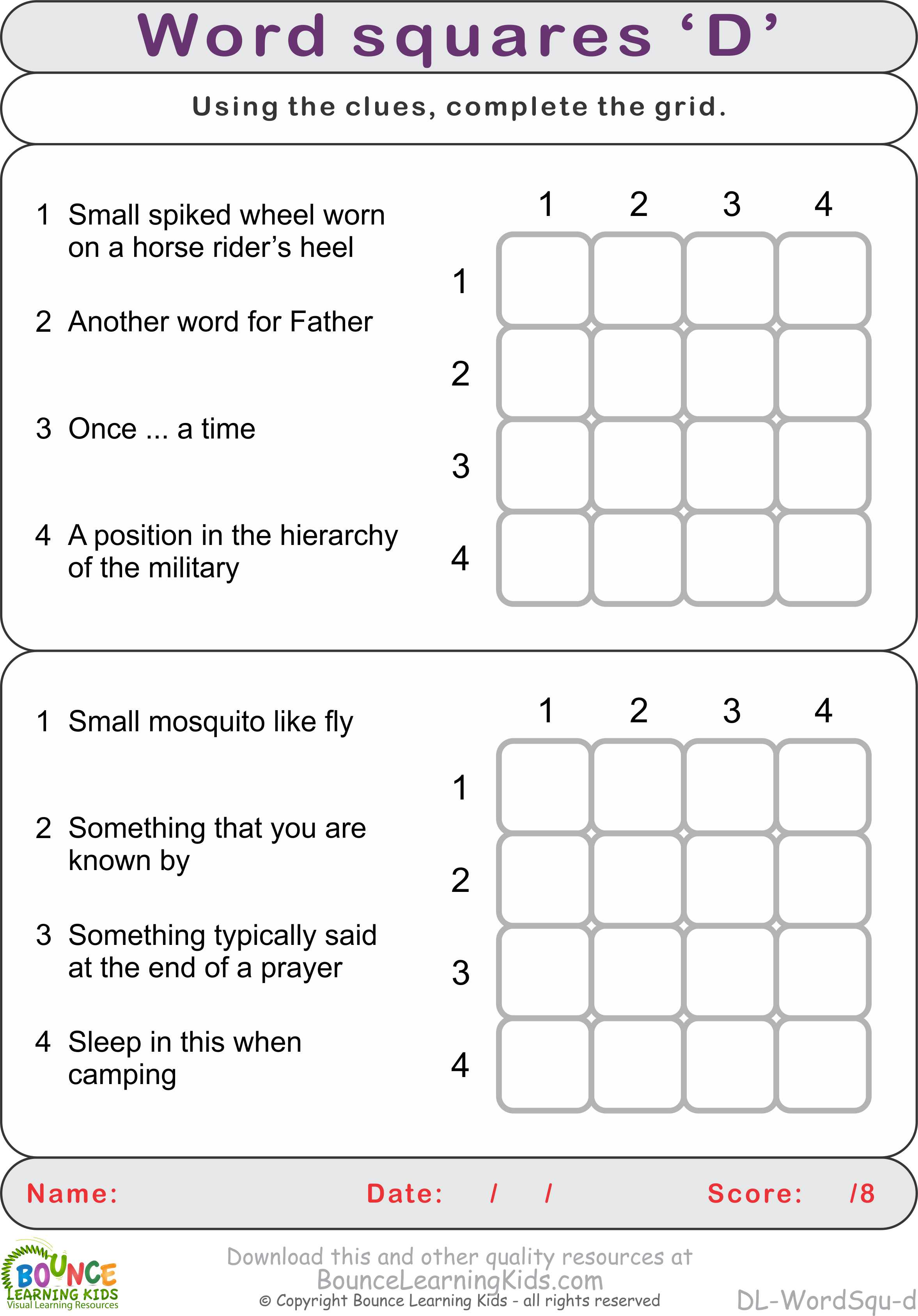 worksheet Qu Words word squares portallas d