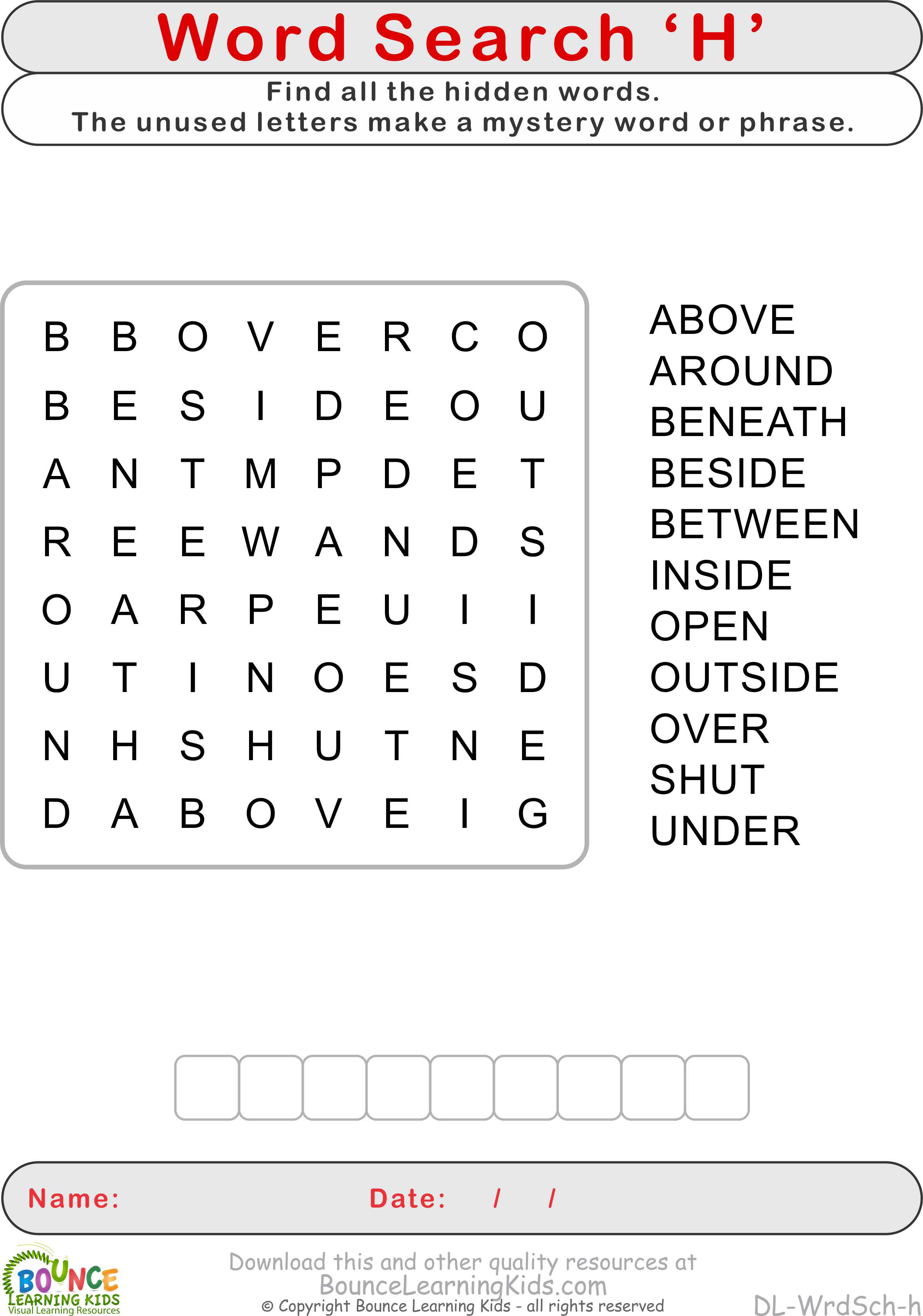 Wordsearch H