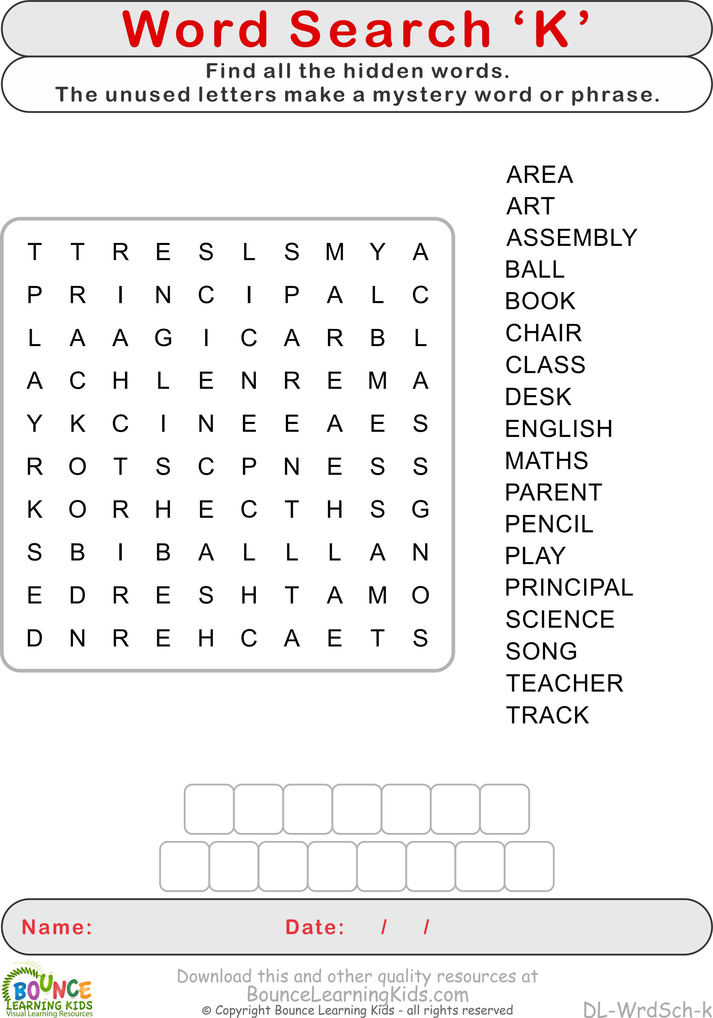More wordsearch puzzles