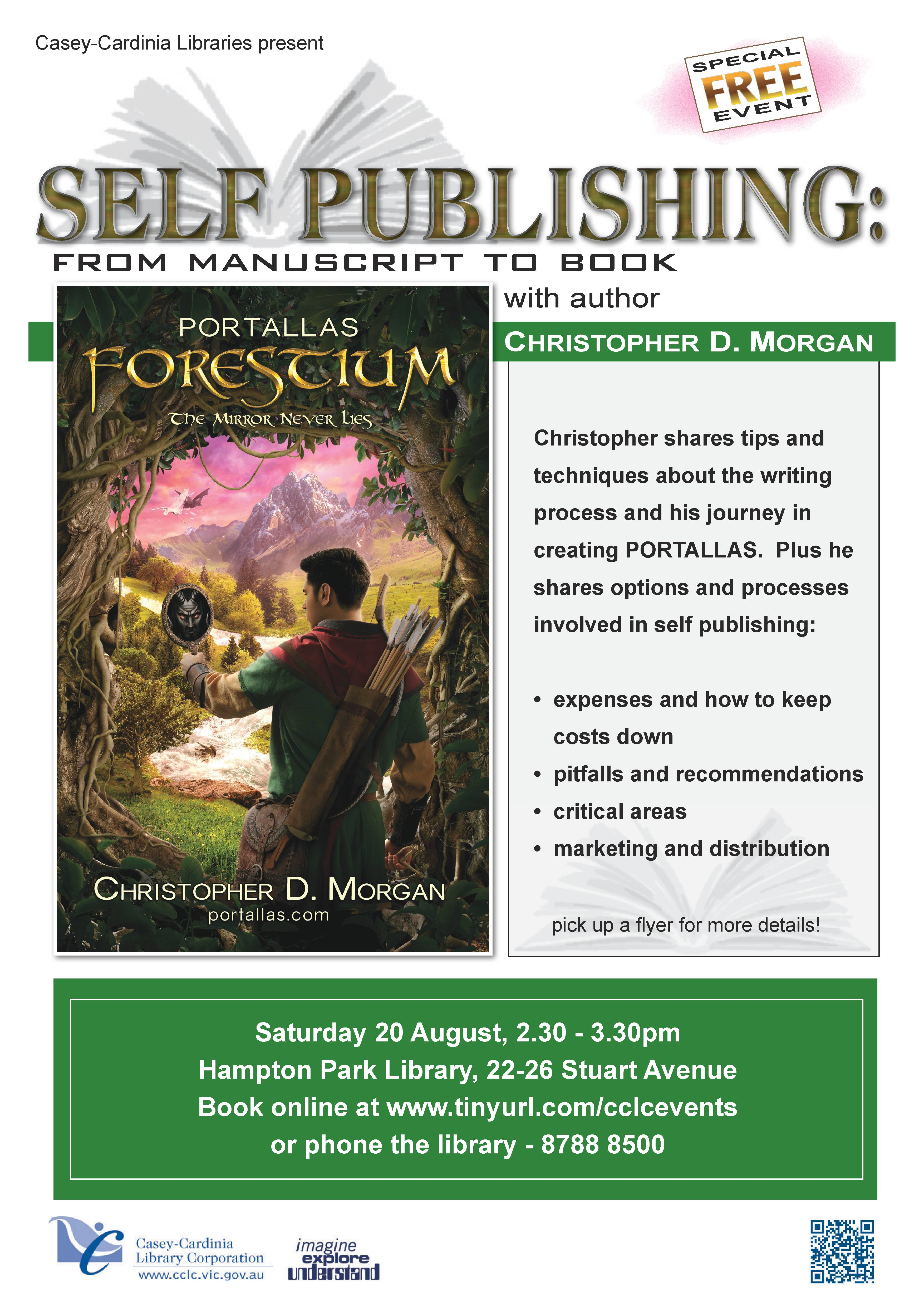 Self publishing - learn how! Click to register for this FREE event.