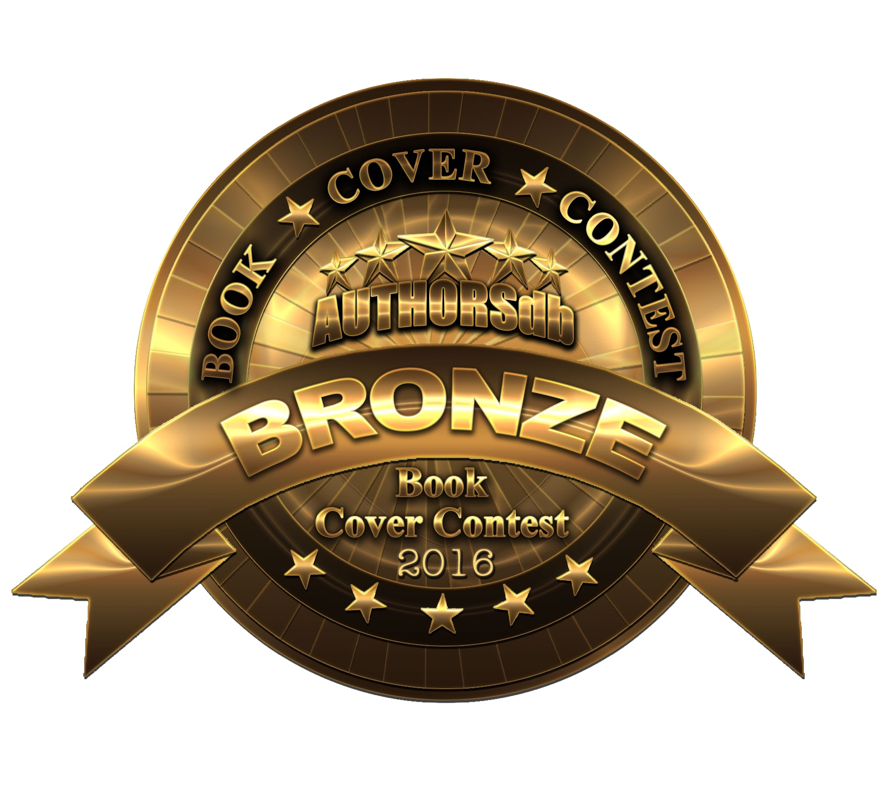Bronze for best book cover in the Authordb 2016 cover content