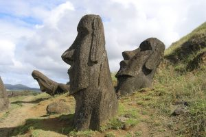 Travelling - Easter Island (standing Moai)